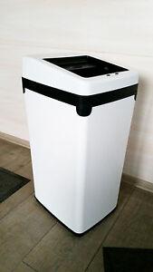 30 Liter Sensor Abfalleimer mit Lamellen weiss Mülleimer Abfallbehälter Neu