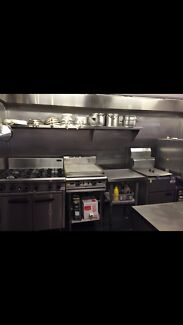 Fully equipped commercial kitchen or prep space