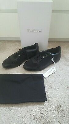 VERSACE COLLECTION MENS TRAINERS BLACK BRAND NEW  SIZE 8UK 42EU 100% GENUINE