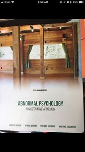 Abnormal Psychology: An Integrative Approach 5th Edition