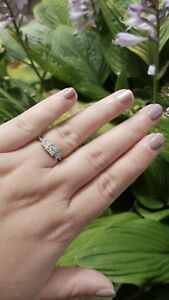 1.48 TCW Cluster Diamond Engagement Ring $500 OBO