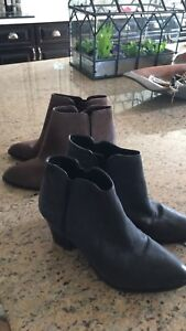 Franco Sarto Ankle Boots size 9.5  Brown And Black