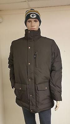 Authentic Woolrich Men's Dark Wood Langhorne Parka Jacket 550 Fill Down -