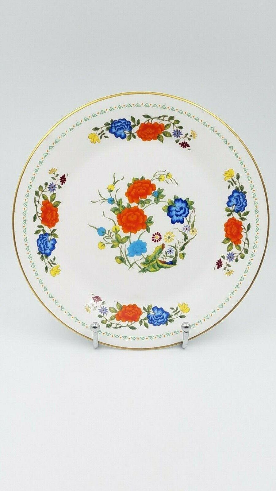 Aynsley Famille Rose Demitasse and Saucer Set with Salad/Dessert Plate Vintage