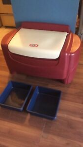 Little tikes toy chest with bins