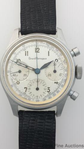 Girard Perregaux Chronograph Vintage 17J Mens Working Wrist Watch - watch picture 1