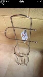 Housewares-Bathroom Towel-Stainless Pastry Tower-Bombay