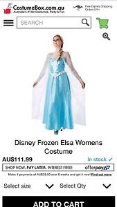 Elsa Frozen licenced costume. South Yunderup Mandurah Area Preview