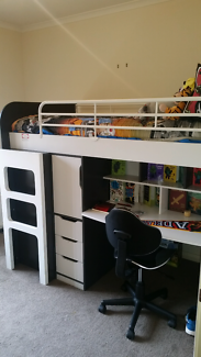 Oxford Single Bunk Bed with Workstation