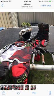 Motorbike Boots, helmet and accessories