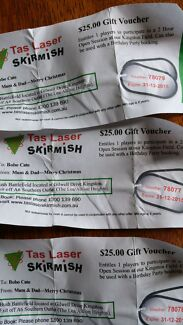 Tas Laser Skirmish vouchers Glenorchy Glenorchy Area Preview
