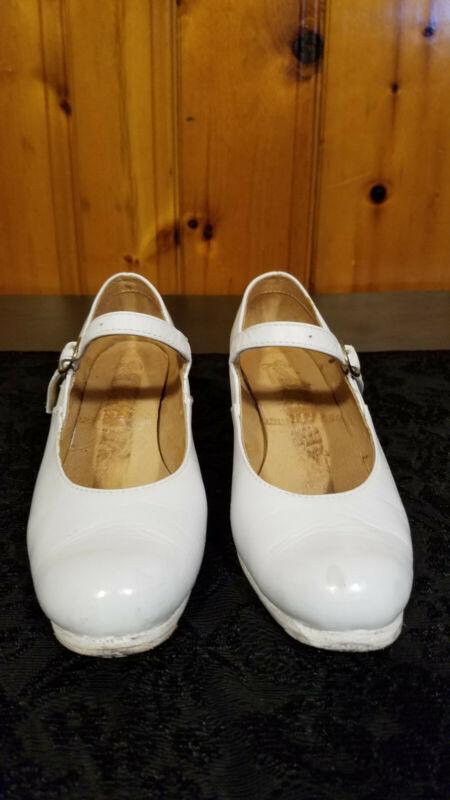 El Charro, Womens Flamenco Shoes, White 2 inch heel, US 7, good used condition