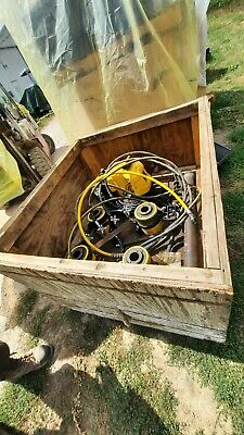 Enerpac Hydraulic Push Pull Set 4 Rch606 Holl-o 60ton Rams Pump And Equalizers
