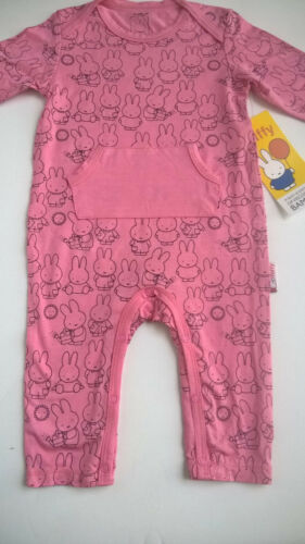 MIFFY_The Bunny_Baby_Girl_3M_Pink_POCKET_ROMPER_Soft/Silky_BAMBOO_Viscose_NWT