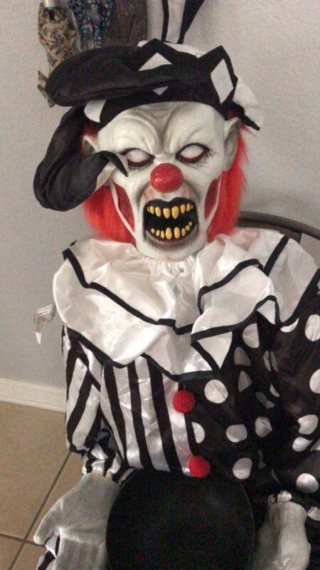 Spirit Halloween Sitting Scare Clown