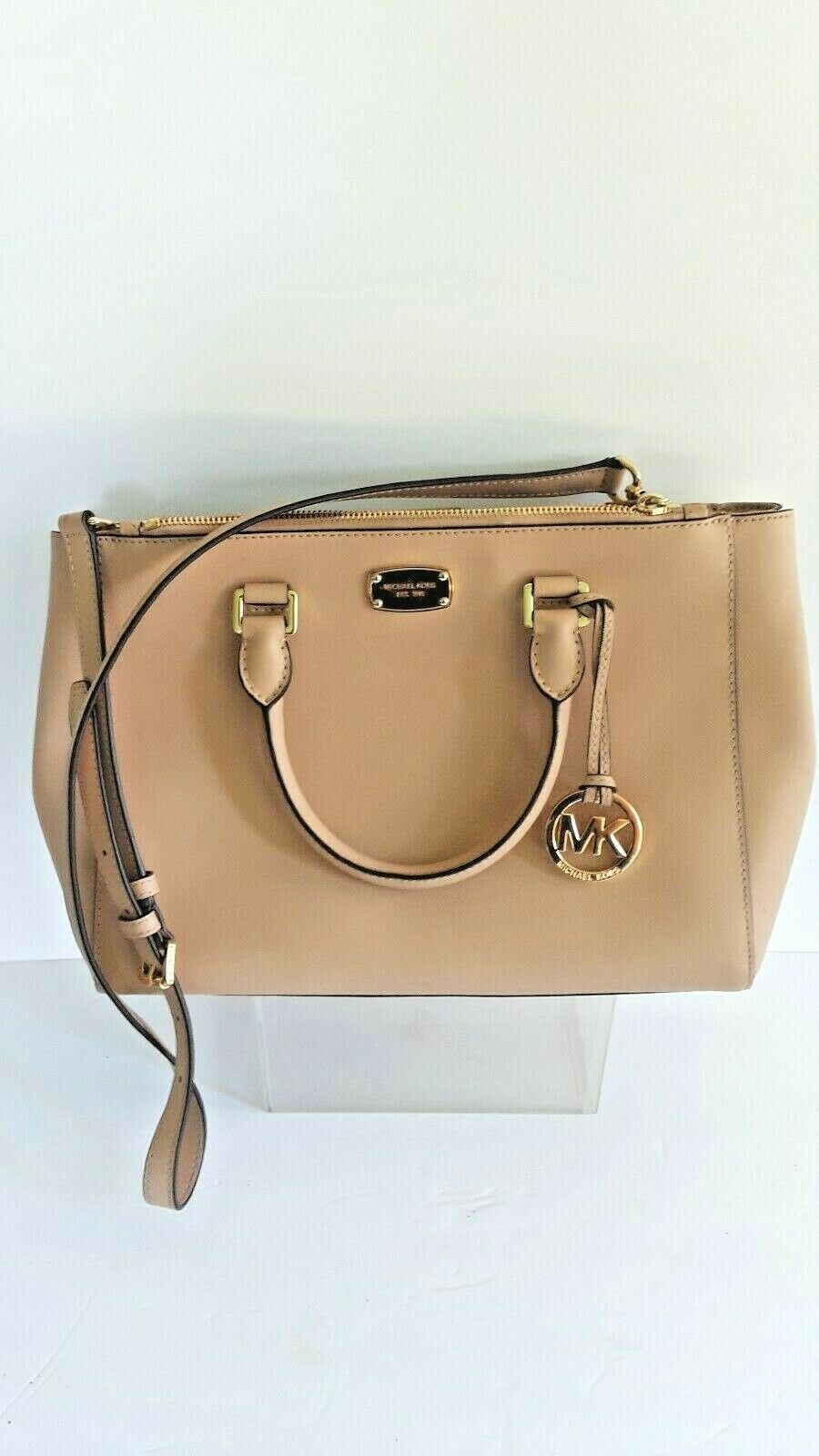 Michael Kors Leather Satchel Crossbody Messenger Tote Bag Ha
