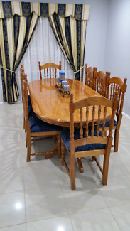 8 seater dining with chairs $160