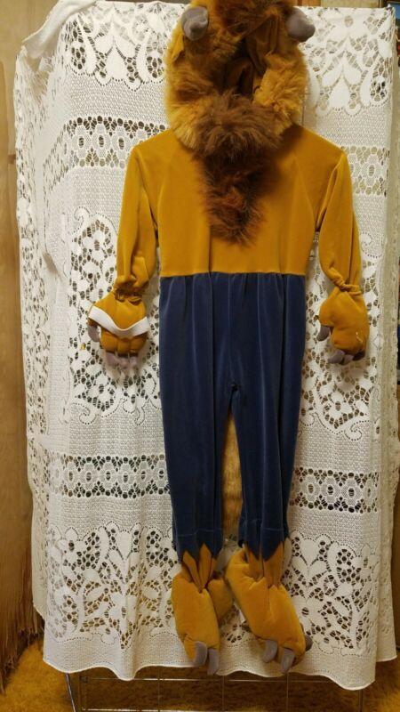 Disney  Size 3-5 Toddler Beast Costume Beauty & the Beast 1 Piece Warm