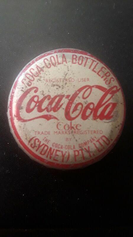 Old Cork Bottle Cap Coca Cola Sydney Australia