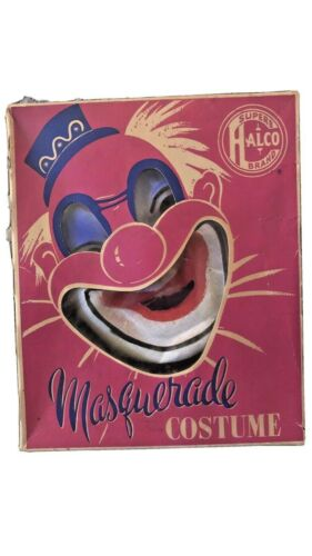 Vintage Superb Halco Masquerade Halloween Clown Costume in Box
