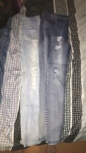 2 Jeans size 15 and 2 Tanks