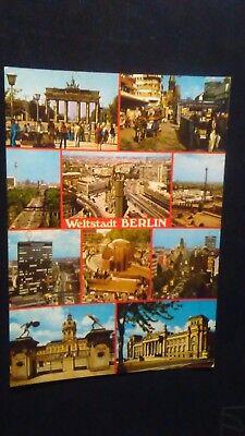 Schöne Mehrbild AK Berlin City West Brandenburger Tor Europa Center um 1970 B773