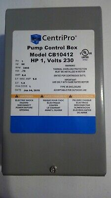 Goulds Centripro 1hp 230v Control Box Submersible Water Well Pump Cb10412  New