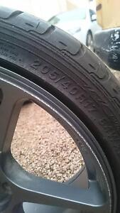 "Grey 17"" 4stud rims x4 w/tyres Balaklava Wakefield Area Preview"