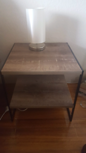 Wood bedside table Middle Park Port Phillip Preview