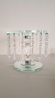23cm cake stand with hanging crystals for hire!  Delahey Brimbank Area Preview