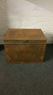 Antique metal Document Box (629m)