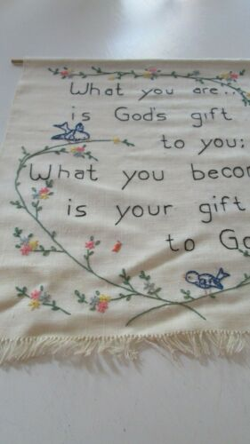 Hand Ebroidery Wall Hanging You Are God