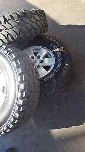 GENUINE HILUX RIMS WITH MUD TERRAIN TYRES Earlwood Canterbury Area Preview