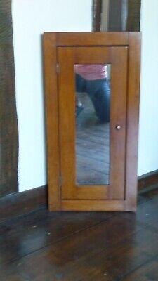 Vintage Walnut Mirrored Corner Cabinet - early/mid 20th century - vgc