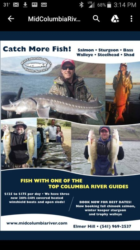 Guided Salmon fishing trip Columbia River Oregon washington charter