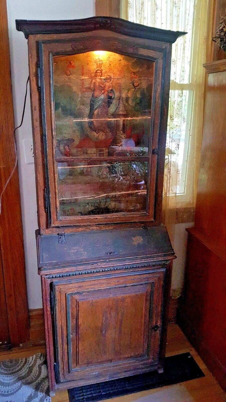 Rare 19th Century Folk Cabinet