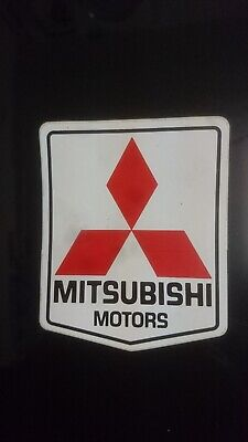 Vintage sticker autocollant Mitsubishi