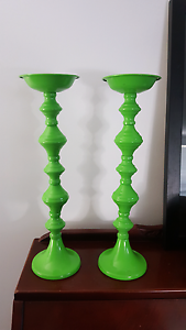 Lime green candle holders Mandurah Mandurah Area Preview
