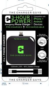 cellphone charger! portable Emergency 2-in-1 apple/android