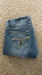 Rock Rival and True Religion jeans