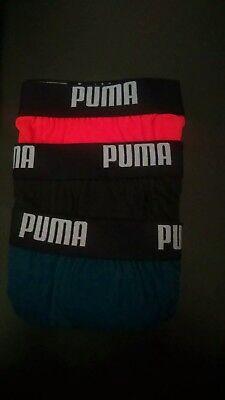 Men's Puma 3 Pack boxer briefs Size Medium in Dark Orange / Navy Blue / Black