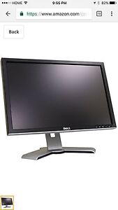 """Dell monitor, 20"""" screen size"""
