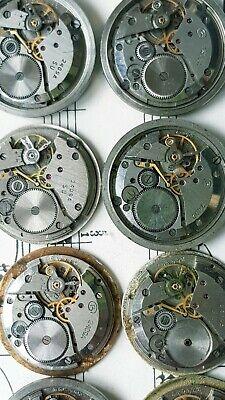 Vintage Men's Watch Mechanisms Watchs Parts Movements Steampunk Art 12pc