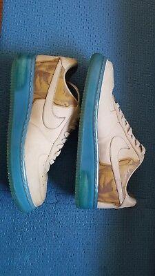 95e34641062 Nike Air Force 1 Supreme 07 New Six Kobe Bryant Linen Blue 315095-221 Used