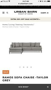 Urban Barn Ramos Couch Sofa