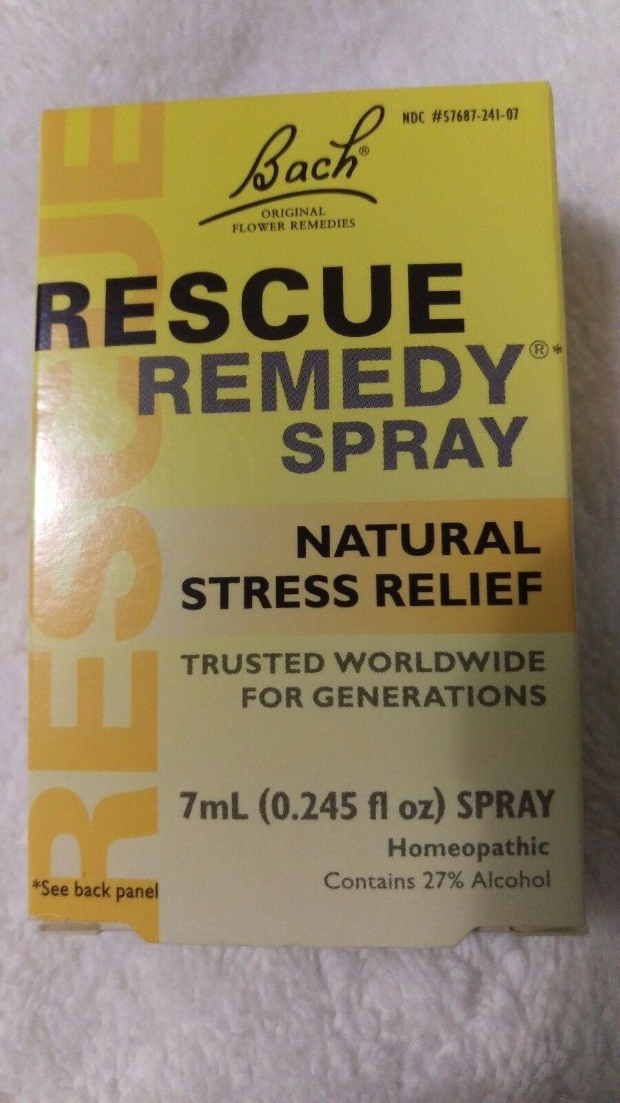 Bach Fleurs Rescue Remedy Spray - STRESS NATUREL RELIEF 7mL - 0245 fl oz