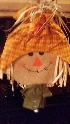 Scarecrow Face Halloween (Halloween Decor JUMBO SCARECROW FACE Hanging DOOR - WALL Decoration 23