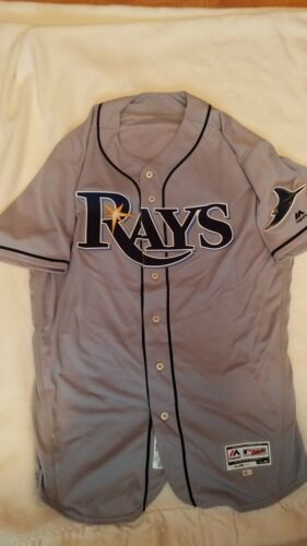 2017 Jamie Nelson Tampa Bay Rays Game Used Worn Jersey Mlb Hologram