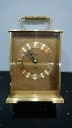 Vintage Rare James Walker Brass Mantle Tabletop Clock