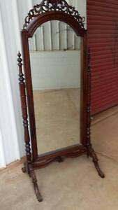 full length mirror stand alone timber framed
